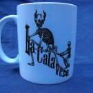 "Hand Decorated Ceramic Sublimated Mug 12oz, Day of the Dead ""La Calavera"""