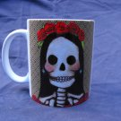 Hand Decorated Ceramic Sublimated Mug 12oz, Day of the Dead Bride