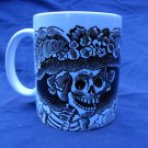 Hand Decorated Ceramic Sublimated Mug 12oz, Day of the Dead Catrina