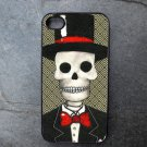 Day of the Dead Man on Printed Background Decorated iPhone 4,5,6 or 6plus Case