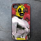Mexican Wrestler on Flower Print Background Decorated iPhone 4,5,6 or 6plus Case