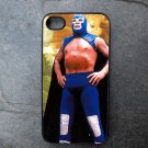Mexican Wrestler in Blue Decorated iPhone 4,5,6 or 6plus Case