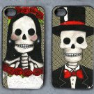Day of the Dead Bride and Groom Decorated iPhone 4,5,6 or 6plus Case