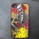 Day of the Dead Women in Yellow Skirt Print Background Decorated iPhone 4,5,6 or 6plus Case