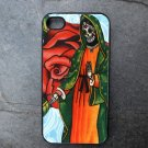 Day of the Dead Virgin Mary Rose Print Background Decorated iPhone 4,5,6 or 6plus Case