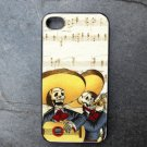 Day of the Dead Musicians on Sheet Music Print Background Decorated iPhone 4,5,6 or 6plus Case
