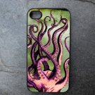 Octopus Legs on Green Sea Print Background Decorated iPhone 4,5,6 or 6plus Case