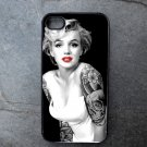 Marilyn Monroe with Tattoos Decorated iPhone 4,5,6 or 6plus Case