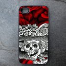 Day of the Dead Catrina on Rose Print Background Decorated iPhone 4,5,6 or 6plus Case