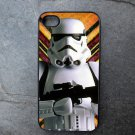 Storm Trooper on Yellow Print Background Decorated iPhone 4,5,6 or 6plus Case
