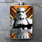 Stainless Steel Flask - 8oz., Storm Trooper on Lined Background
