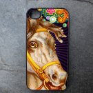 Horse on Colorful Print Background Decorated iPhone 4,5,6 or 6plus Case