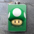 Stainless Steel Flask - 8oz., Mario Bros 1up Mushroom Print