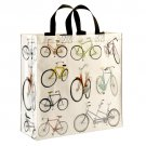 Bicycle Print Shopper Tote, Reusable Bag