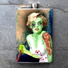 Stainless Steel Flask - 8oz., Marilyn Monroe as a Zombie