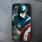 Captain American with Skeleton Face Decorated iPhone 4,5,6 or 6plus Case