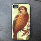Bird Print on Yellow Background Decorated iPhone 4,5,6 or 6plus Case