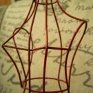 Red Painted Metal Dress Form Jewelry Holder and Display