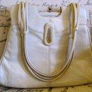 Vintage White Leather Purse