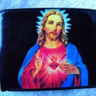Hand Decorated Wallet, Jesus Print