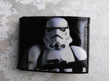 Hand Decorated Wallet, Storm Trooper Print