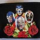 Hand Decorated Wallet, Set of Four Luche Libre  Print