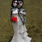 Day of the Dead Beautiful Bride and Bride Wedding Cake Toppers