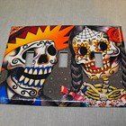 Triple Switch Plate Cover, Day of the Dead Sugar Skull Couple Image