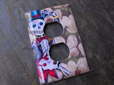 Wall Plug Plate Cover, Day of the Dead Skeleton Image