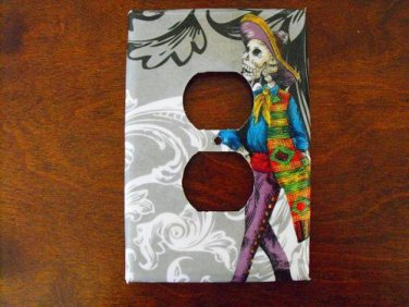 Wall Plug Plate Cover, Day of the Dead Man Image