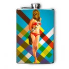 Stainless Steel Flask - 8oz., Pin Up Girl with Chewbacca Mask
