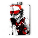 Stainless Steel Flask - 8oz., Pokemon Guy in Red and White