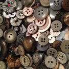 Mixed Bag of Vintage Gray and Silver Colored Buttons