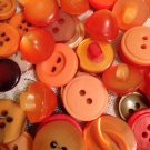 Mixed Bag of Vintage Orange Colored Buttons
