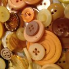 Mixed Bag of Vintage Yellow Colored Buttons