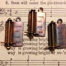 Vintage Brass Temperature Gage Charm
