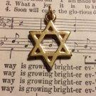 Gold Colored Star of David Pendant