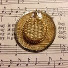 Gold Colored Mesh Hat Pendant