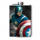 Stainless Steel Flask - 8oz., Captain America