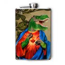 Stainless Steel Flask - 8oz., Dinosaur Jesus