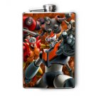 Stainless Steel Flask - 8oz., Mazinger Z Print
