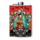 Stainless Steel Flask - 8oz., Day of the Death Lady of Guadalupe