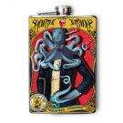 "Stainless Steel Flask - 8oz., Octopus Man Wearing Suit ""Showtime"""