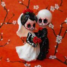Little Day of the Dead Couple, Wedding Cake Topper