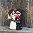 Little Day of the Dead Couple, Wedding Cake Topper 3 In