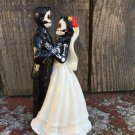 Day of the Dead, Wedding Cake Topper with 6In Veil