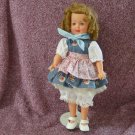 "Retro Shirley Temple Doll, Brown Hair, Ideal Toy Co., 1957 12"", #0823595"