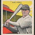 Vintage Baseball Card Earl Averill, 1933 Tattoo Orbit #3