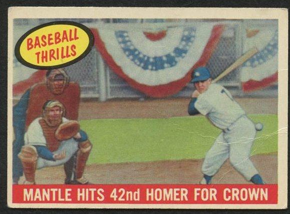 Retro Baseball Card, Mickey Mantle 42nd Homer, 1959 Topps #461
