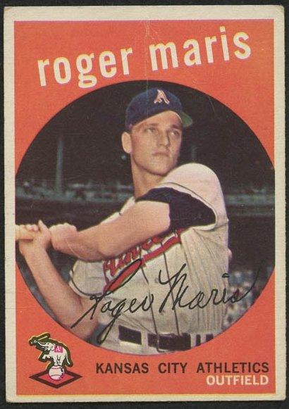Retro Baseball Card, Roger Maris, 1959 Topps #202